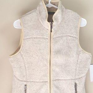 Woolrich Womens Size S/P Vest Cream Faux Fur New